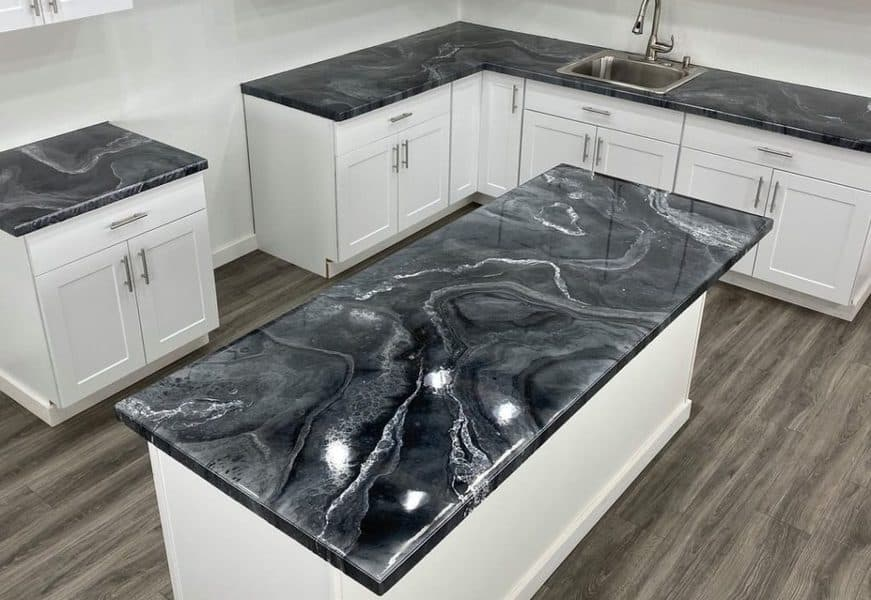 epoxy countertops durable and have solid surface countertop materials, their heat resistance of entire surface is good and they don't have air bubbles